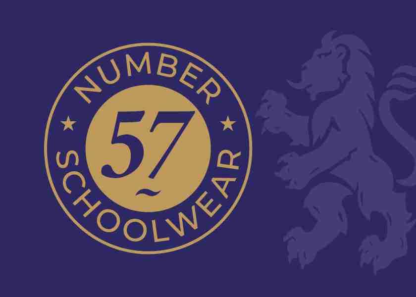 Number 57 Schoolwear Logo